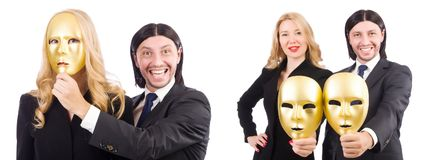 The funny concept with theatrical mask Stock Images