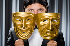 Funny concept with theatrical Stock Image