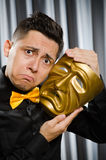 Funny concept with theatrical Stock Photo