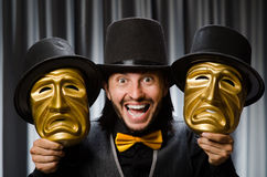 Funny concept with theatrical Royalty Free Stock Photo