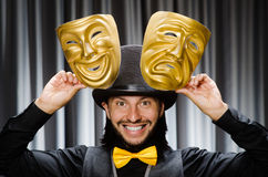 Funny concept with theatrical Royalty Free Stock Photos