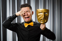 Funny concept with theatrical Stock Photography