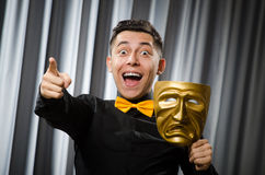 Funny concept with theatrical Royalty Free Stock Photography