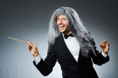 Funny conductor with long Stock Photography