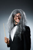 Funny conductor with long Royalty Free Stock Photos