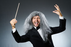 Funny conductor Royalty Free Stock Image