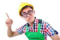 Funny construction worker Stock Photos
