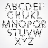 Funny constructive vector black and white font Stock Image