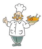 Funny cook. Royalty Free Stock Photography
