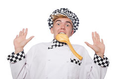 The funny cook isolated on white Royalty Free Stock Photo