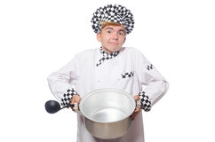 The funny cook isolated on white Royalty Free Stock Image