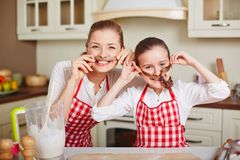 Funny cookers Royalty Free Stock Images