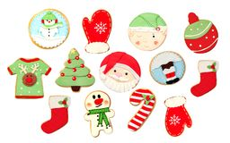 Funny cookies for Christmas Stock Image