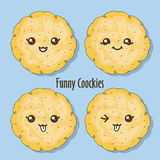 Funny cookies Stock Images