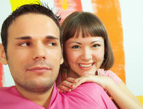 Funny couple Stock Photo