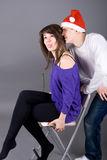Funny couple Stock Images