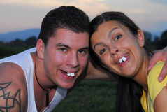 Funny couple Stock Photos