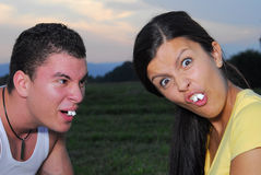 Funny couple Stock Photography