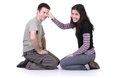 Funny couple Royalty Free Stock Photos