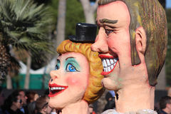Funny Couple - Carnival of Nice 2016 Stock Images