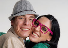 Funny couple. Royalty Free Stock Photo