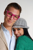 Funny couple. Stock Photo