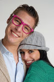 Funny couple. Royalty Free Stock Photography