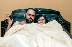 Funny Couple With Glasses Stock Photography
