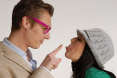 Funny couple. Royalty Free Stock Photos