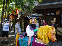 Funny Court Jester Maryland Renaissance Festival royalty free stock photo