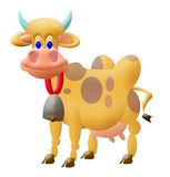 Funny cow. Cow illustration Royalty Free Stock Images