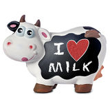 Funny Cow Blackboard Love Milk Royalty Free Stock Photo