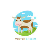 Funny cow - concept for milk and dairy industry Royalty Free Stock Photography