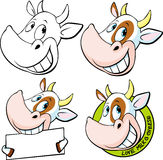 Funny cow head - vector Stock Image