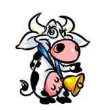 Funny cow parody cartoon illustration Royalty Free Stock Images