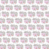 Funny cow seamless pattern Royalty Free Stock Image