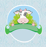 Funny cow signs Royalty Free Stock Images