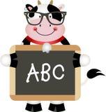 Funny Cow Teacher vector illustration