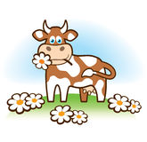 Funny cow. Vector illustration for best print and other use Stock Image