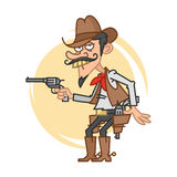 Funny cowboy with gun Royalty Free Stock Photography