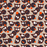 Funny cows. Seamless pattern. Vector Royalty Free Stock Images