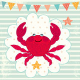 Funny crab Royalty Free Stock Photo