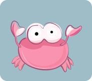 Funny crab. Vector illustration of funny big eyes crab - icon set of sea annimals Stock Images
