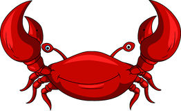 Funny crab cartoon Stock Images