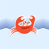 Funny crab. Creative draw of funny crab Stock Images