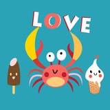 Funny crab Royalty Free Stock Photos