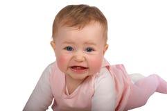 Funny crawling baby Stock Photo