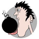 Funny crazy bomb Stock Image