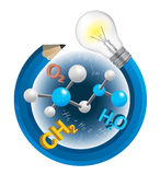 Funny creative chemistry concept. Royalty Free Stock Images