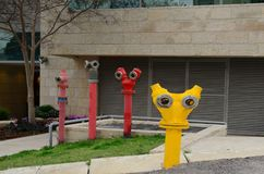 Free Funny Creative Fire Hydrants In Modern Architecture Royalty Free Stock Image - 146925836